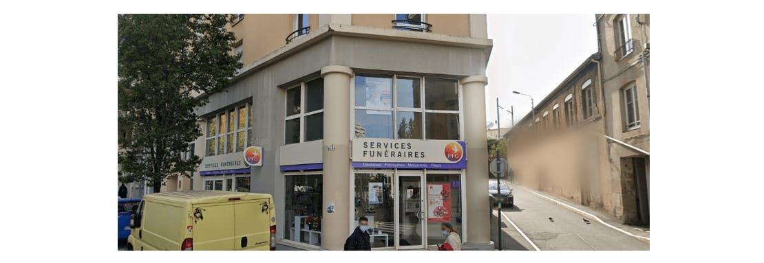 Photographie de la Pompes Funèbres Générales à Saint-Etienne