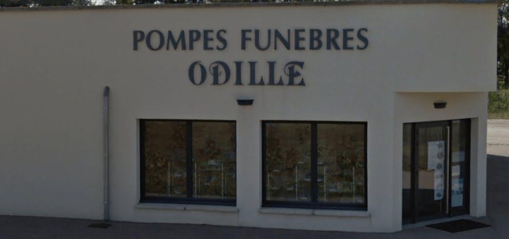 Photographie de la Pompes funèbres et Marbrerie Odille de la ville de Rochefort-sur-Nenon