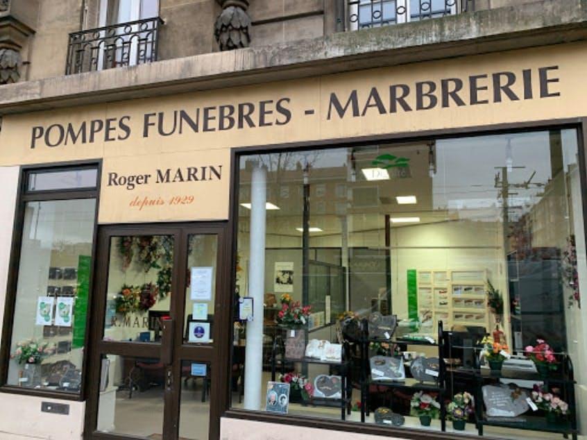 Photographies des Pompes Funèbres Marberie Roger Marin à Paris