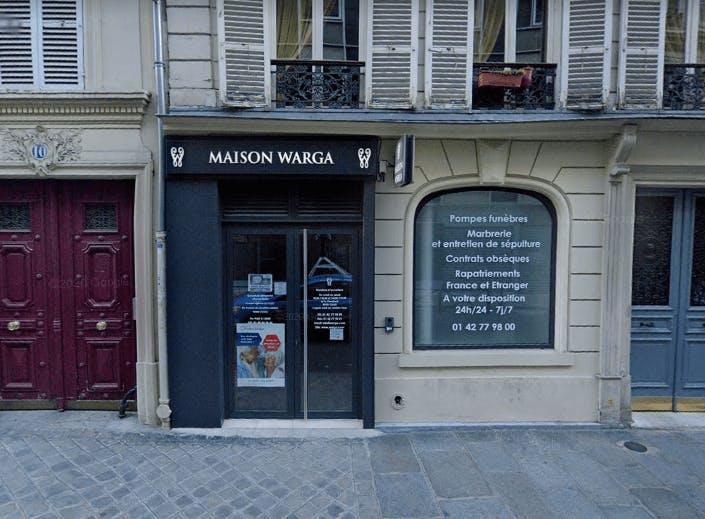 Photographie de la Maison Funéraire Warga à Paris