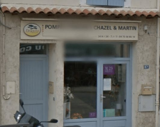 Photographie de la Pompes Funèbres et Marbrerie Chazel Martin de la ville de Loriol-sur-Drôme