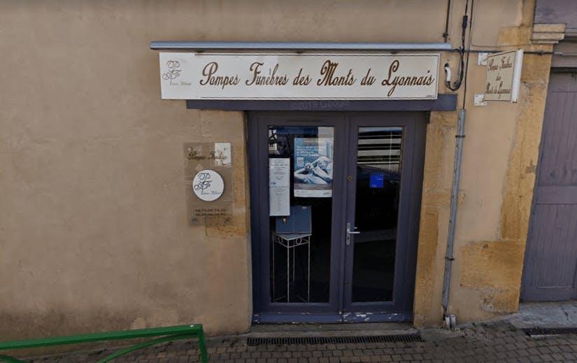 Photographie de la Pompes Funèbres des Monts du Lyonnais à Lentilly