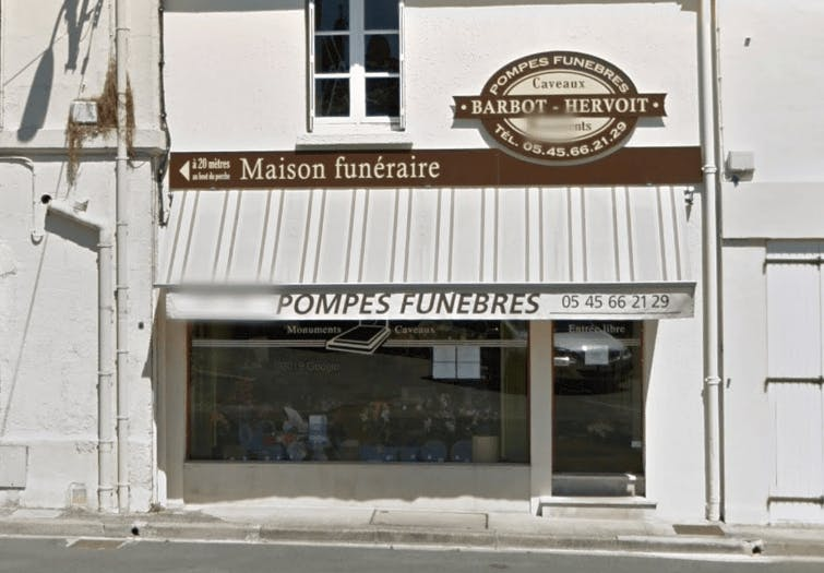 Photographie Pompes Funèbres HERVOIT-BARBOT de Châteauneuf-sur-Charente