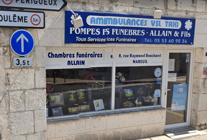 Photographie Pompes Funèbres Allain et Fils de Mareuil
