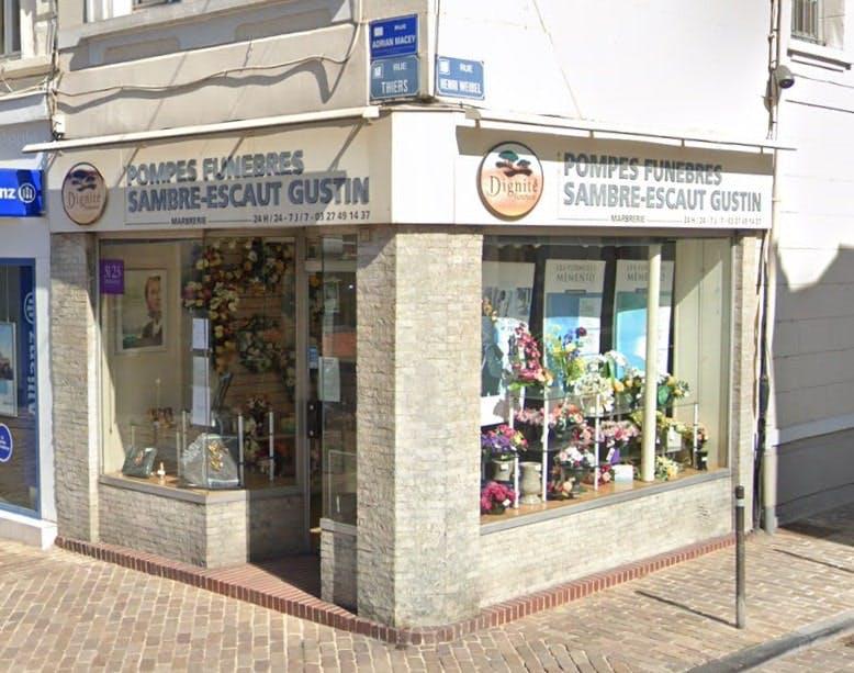 Photographies des Pompes Funèbres et marbrerie Sambre Escaut Gustin au Quesnoy