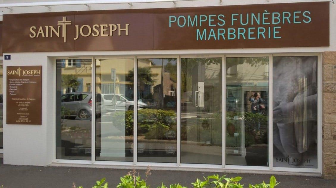 Photographies des Pompes Funèbres Marbrerie Saint-Joseph à Vannes