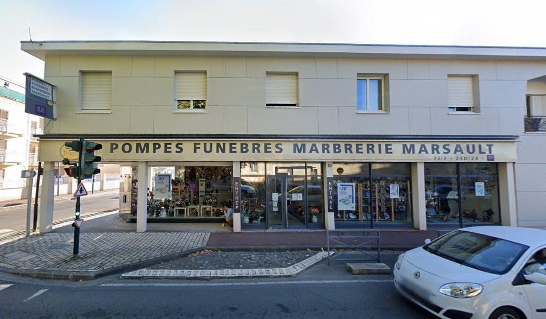 Photographies des Pompes Funèbres Marbrerie Marsault à Bruges