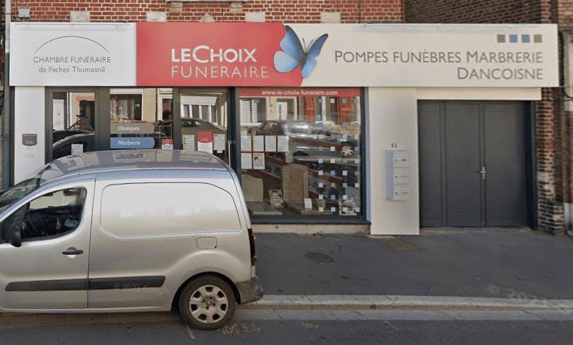 Photographie de la Pompes Funèbres Marbrerie DANCOISNE - Le Choix Funéraire de Faches-Thumesnil