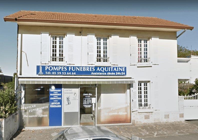 Photographie de la Pompes Funèbres Aquitaine de la ville de Pau