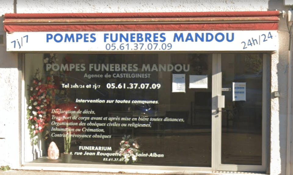 Photographie Pompes Funèbres Mandou de Castelginest