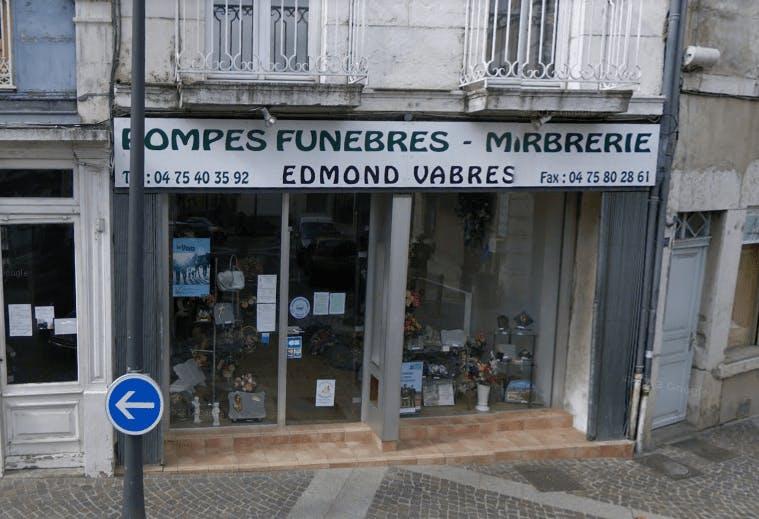 Photographie Pompes Funèbres Edmond Vabres de Saint-Péray