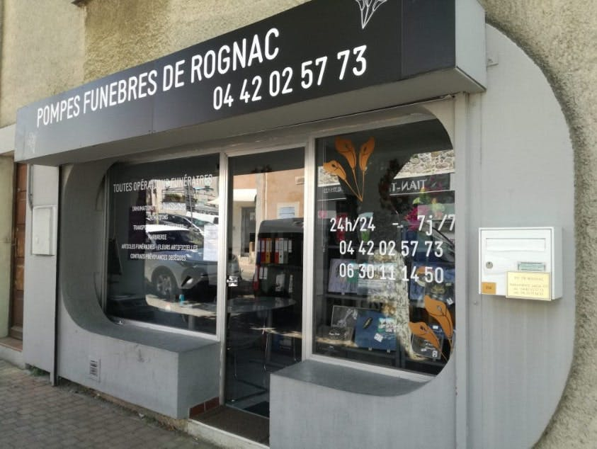 Photographies des Pompes Funèbres de Rognac à Rognac