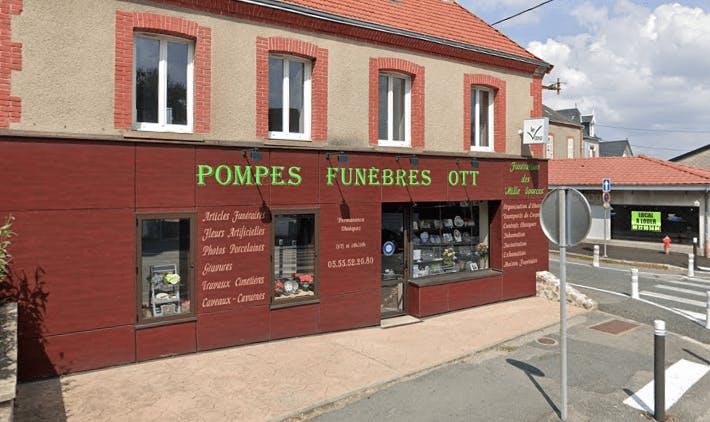 Photographie de la Pompes Funèbres OTT à Guéret