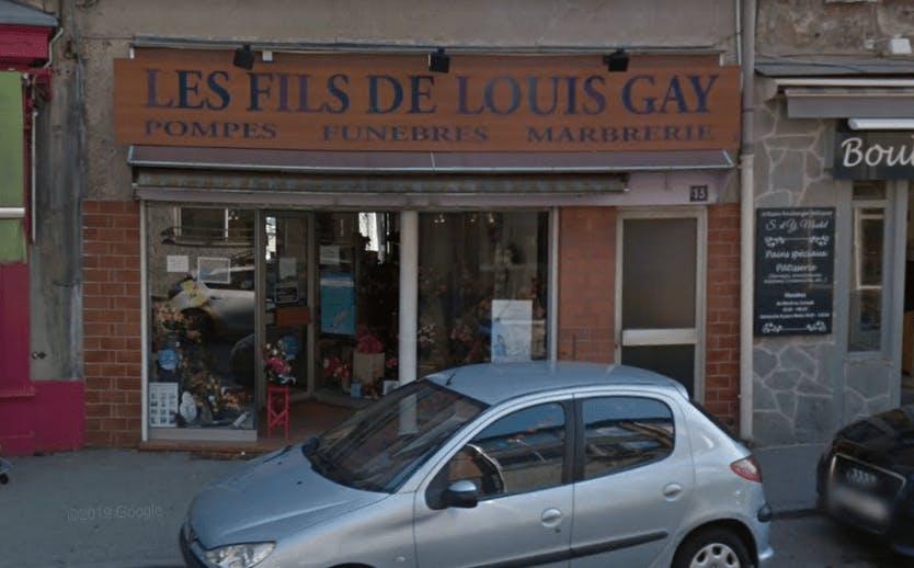 Photographie de la Pompes Funèbres Les Fils de Louis Gay à Bourg-Argental