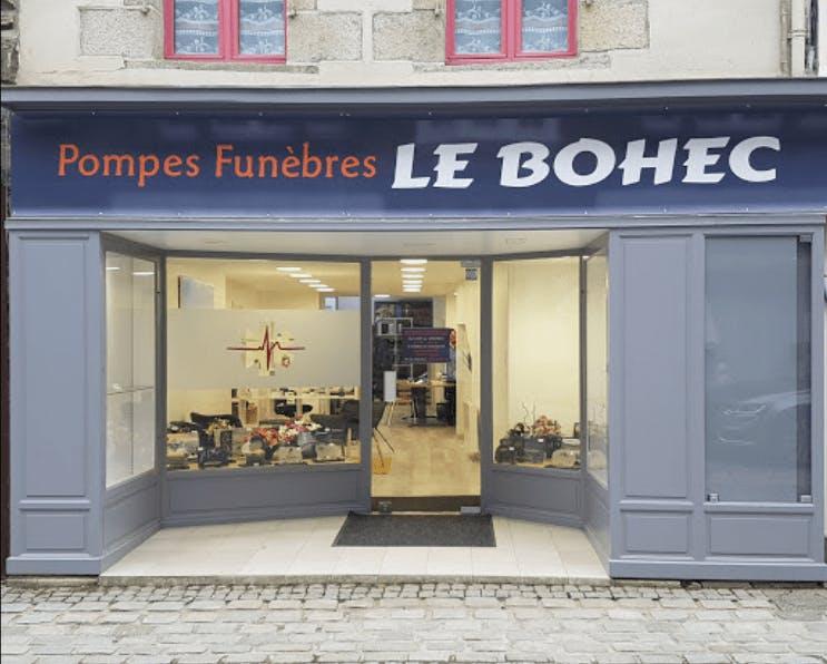 Photographie de la Pompes Funèbres Le Bohec à Pontrieux