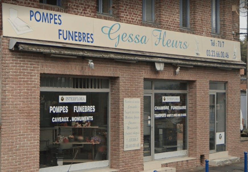 Photographie de la Pompes Funèbres Gessa Fleurs de Fresnoy-le-Grand
