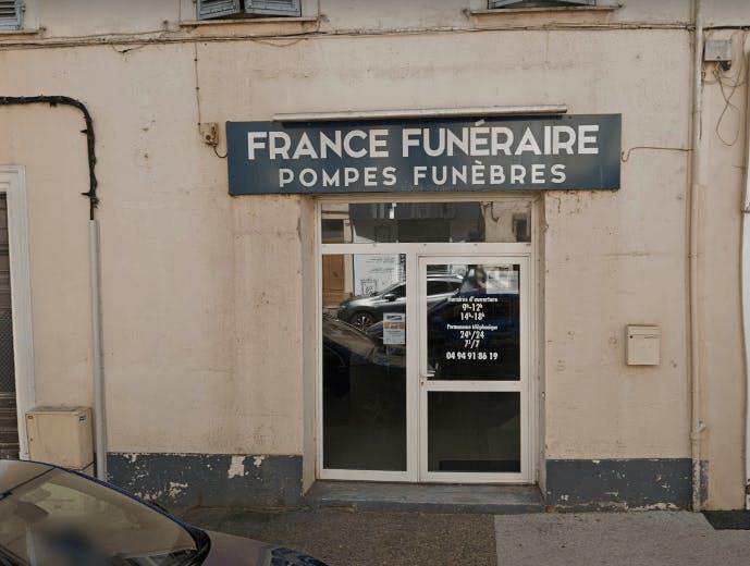 Photographie de la Pompes funèbres de France à Hyères
