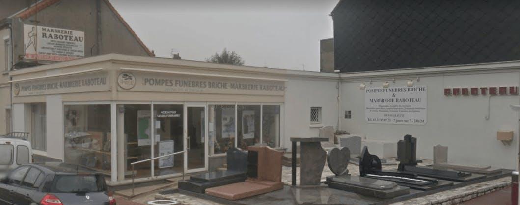 Photographie de la Pompes Funèbres Briche et Marbrerie Raboteau  à Calais