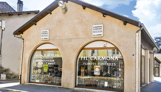 Photographie de la Pompes Funèbres et Marbrerie Carmona  à Saint-Marcellin
