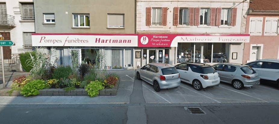 Photographie de la Pompes Funèbres Hartmann à Héricourt