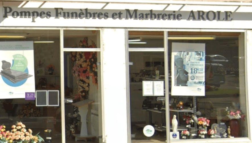 Photographie de la Pompes Funèbres et Marbrerie Arole de la ville de Livron-sur-Drôme
