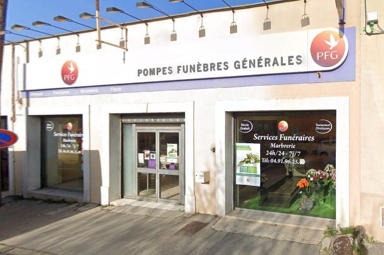 Photographies des Pompes Funèbres Générales aux Pennes-Mirabeau