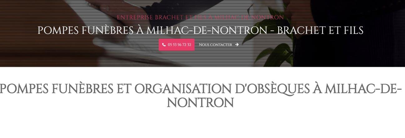 Photographie Pompes Funèbres Brachet et Fils de Milhac-de-Nontron