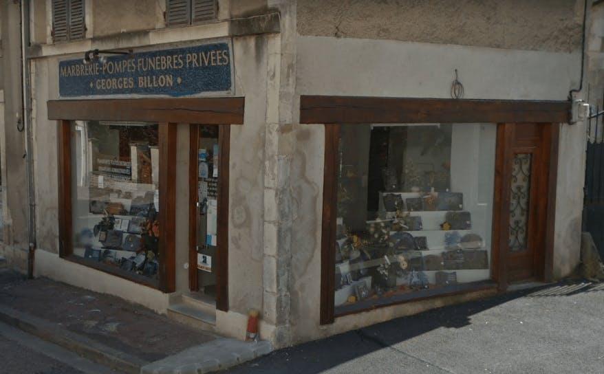 Photographie de la Pompes Funèbres Marbrerie Billon à Coulanges-sur-Yonne