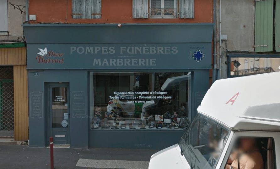 Photographie de la Pompes Funèbres Thérond à Langogne