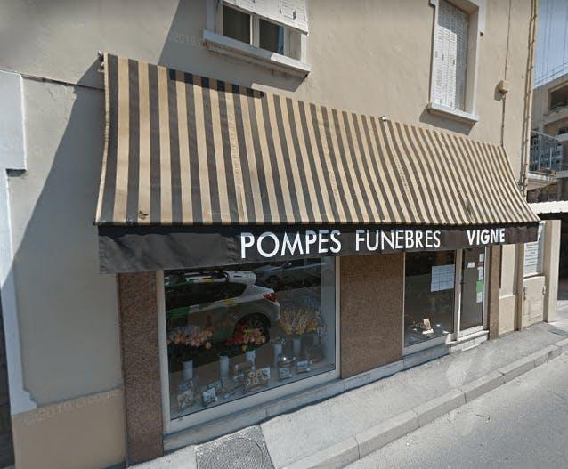 Photographie de la Pompes Funèbres Vigne à Alès