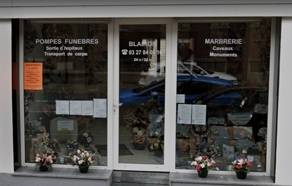 Photographie BLAIRON Marbrerie pompes funèbres du Cateau-Cambrésis