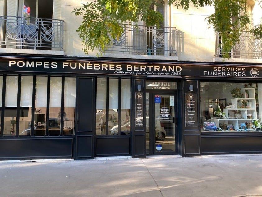 Photographies des Pompes Funèbres Bertrand à Paris