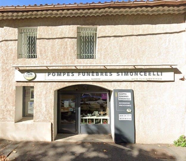 Photographie des Pompes Funèbres et Marbrerie Simoncelli à Avignon