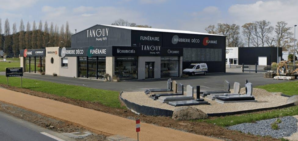 Photographie de la Marbrerie Tanguy à Lanvollon