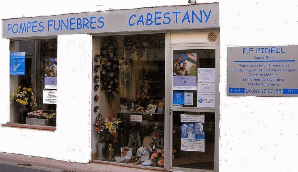 Photographie de la Pompes Funèbres Pideil à Cabestany