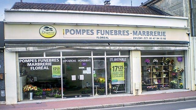 Photographies des Pompes Funèbres Marbrerie Floréal à Gennevilliers