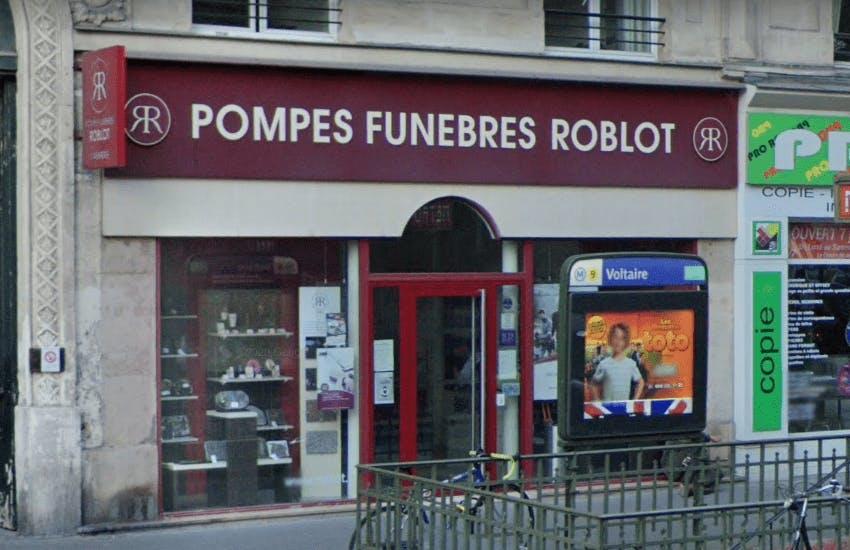 Photographie de la Pompes Funèbres Roblot à Paris