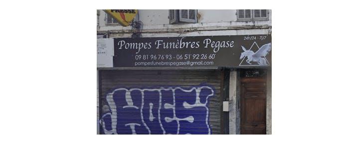 Photographie de la Pompes Funèbres PEGASE à Marseille