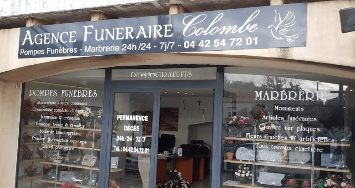 Photographie de l'Agence Funéraire Colombe à Bouc-Bel-Air