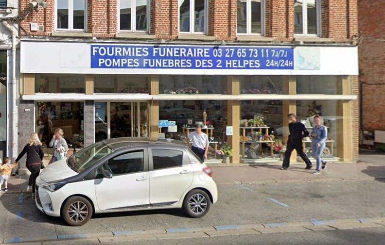 Photographies des Pompes Funèbres des 2 Helpes Fourmies Funéraire