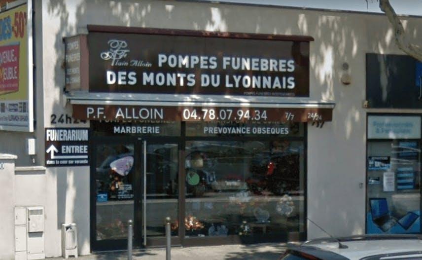 Photographie de la Pompes Funèbres des Monts du Lyonnais à Craponne