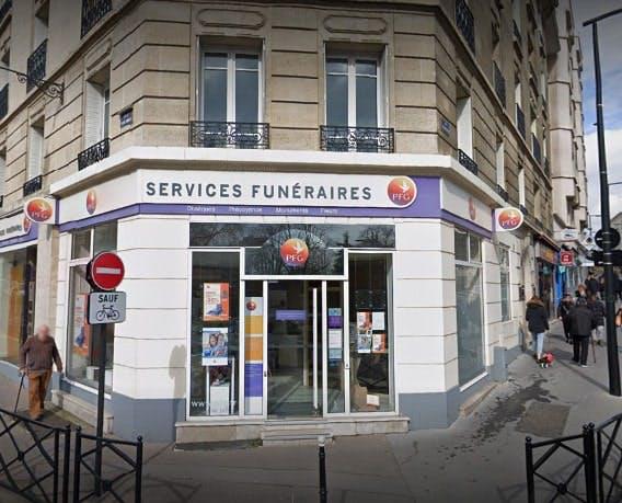 Photographie des Pompes Funèbres Genérales à Courbevoie