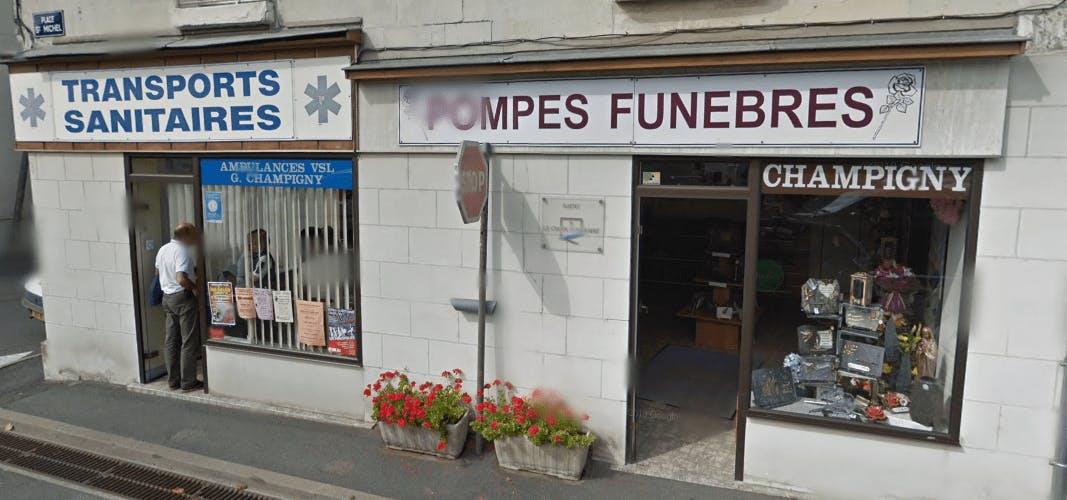 Photographie Pompes Funèbres Champigny de Sainte-Maure-de-Touraine