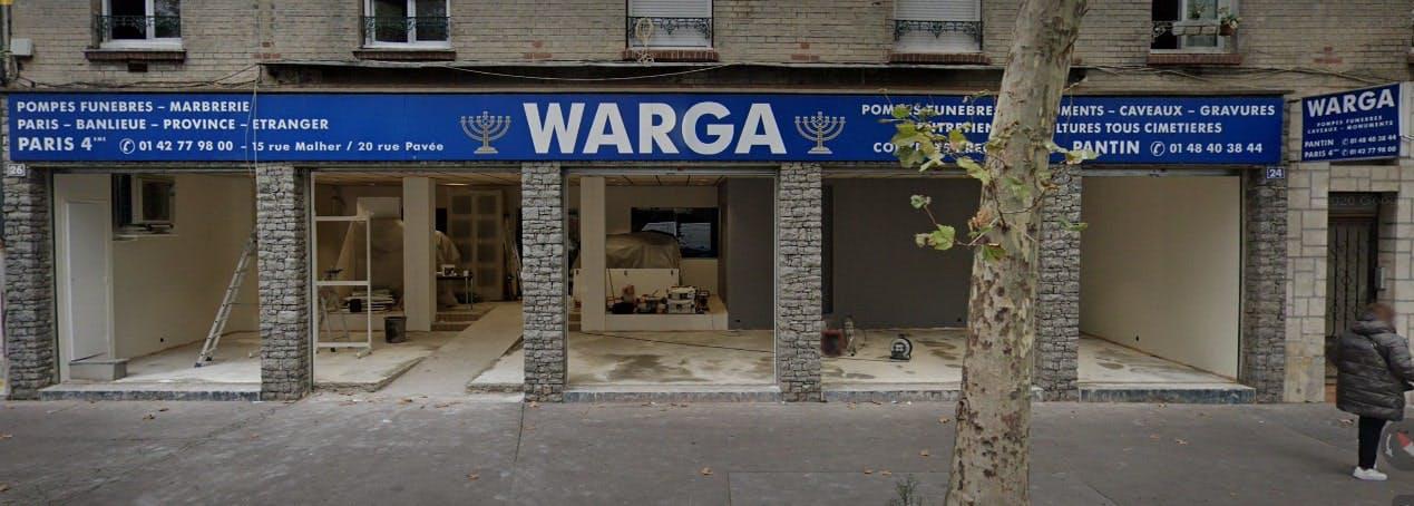 Photographies des Pompes Funèbres Marbrerie Maison Warga à Pantin