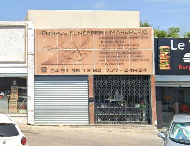 Photographies des Pompes Funèbres Marbrerie Angelus à Marseille