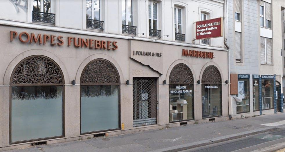 Photographie de la Pompes Funèbres-Marbrerie Poulain et Fils à Paris