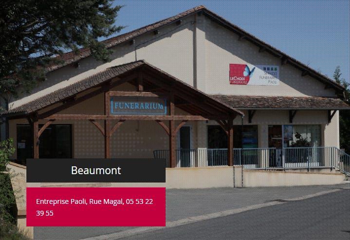 Photographie de la Pompes funèbres PAOLI de la ville de Beaumont-du-Périgord