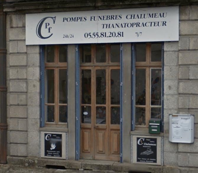 Photographie de la Pompes Funèbres Chalumeau de la ville de Châtelus-Malvaleix