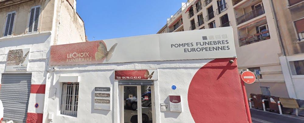 Photographie de la Pompes Funèbres Européennes à Marseille