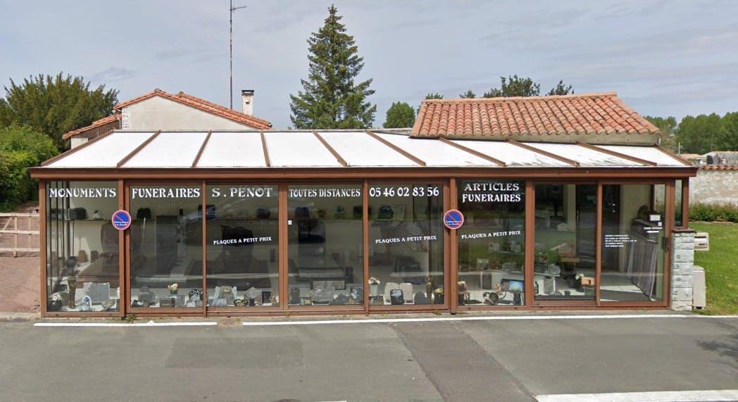 Photographies des Pompes Funèbres Marbrerie Penot à Saujon
